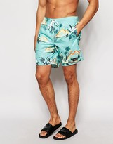 O'Neill Hawaiian Swim Shorts In Green