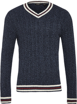Oxford Cricket V-Neck Knit