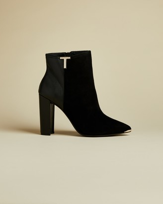Ted Baker T Detail Suede Ankle Boots