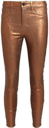 L'Agence Margot Foiled Skinny Jeans