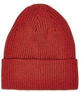 River Island MensRed knitted beanie