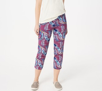 Women With Control Women with Control Petite Pull-On Printed Crop Pants