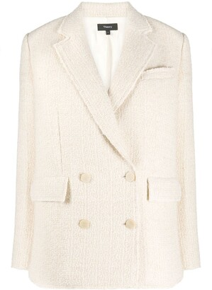 Theory Textured Double-Breasted Blazer