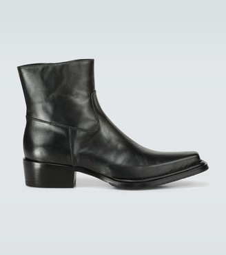 Acne Studios Bruno leather cowboy boots
