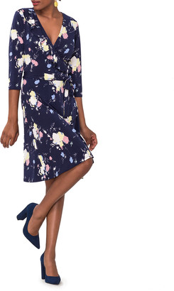 Leota Felicity Perfect Printed Jersey Wrap Dress