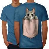 Pocket Cute Kitty Cat Men XXXL T-shirt Back | Wellcoda