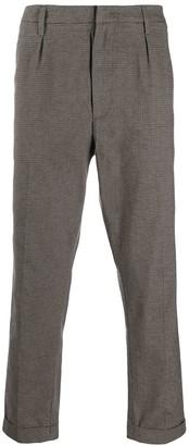 Dondup Printed Straight-Leg Trousers