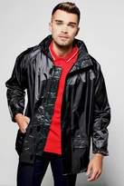 Boohoo Zip Through Black Waterproof Jacket