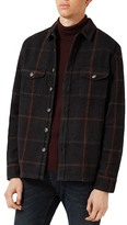 Topman Oversize Check Flannel Shirt