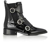 Lanvin Women's Buckled-Strap Chelsea Boots-BLACK