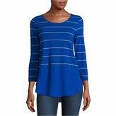 A.N.A a.n.a 3/4 Sleeve Scoop Neck T-Shirt-Talls