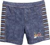 Playshoes Boy's Ahoi mit UV-Schutz Swim Shorts, Blue (jeansblau)