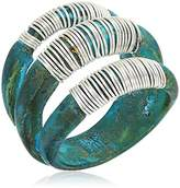 "Robert Lee Morris It's Ringing"" Wire Wrapped Sculptural Multi-Row Patina Ring, Size 7"