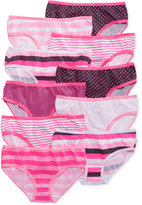 Maidenform Girls' or Little Girls' 10-Pack Cotton Hipsters
