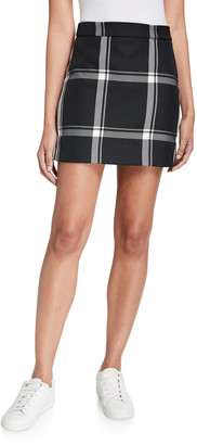 Milly Prepster Check Modern Mini Skirt