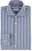Kiton Men's Striped Cotton Twill Dress Shirt