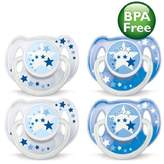 Philips BPA-Free 0-6 Months Night Time Newborn Pacifiers - 4 Pack