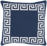 The Well Appointed House Surya Greek Key Pillow in Navy and Ivory-Available in Three Different Sizes-20X20 SIZE