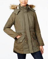 American Rag Faux-Fur Hooded Mixed-Media Parka, Only at Macy's