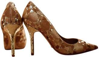 Christian Dior Gold Glitter Heels