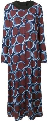 Marni circle print maxi dress