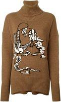 Markus Lupfer 'Birdland' roll neck jumper