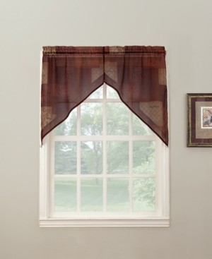"No. 918 Eden 56"" x 36"" Pair of Swag Valances"