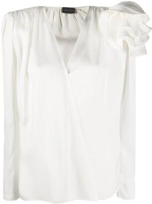 Magda Butrym Bolzano ruffled shoulder blouse