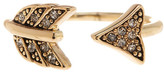 House Of Harlow Crystal Detail Open Arrow Ring - Size 5