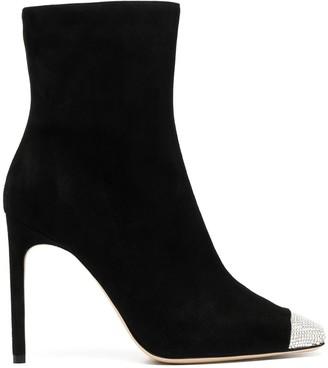 Giannico Lauren crystal toecap boots