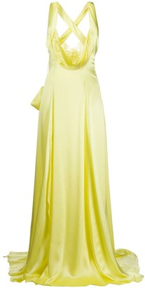 Blumarine Scoop-Neck Gown