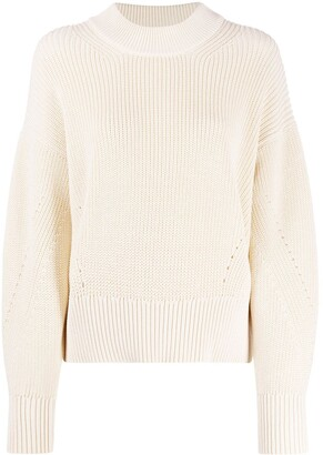 AMI Paris Ribbed Crewneck Jumper