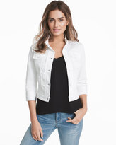White House Black Market Three-Quarter Sleeve White Denim Jacket