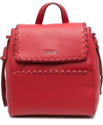 Liu Jo Whipstitch-Trimmed Faux-Leather Backpack