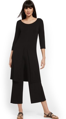 New York & Co. Black Duster Tunic Top - NY&C Style System