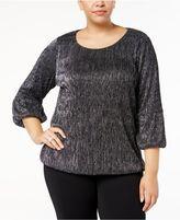 Alfani Plus Size Metallic Top, Created for Macy's