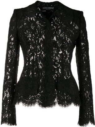 Dolce & Gabbana Fitted Lace Shirt