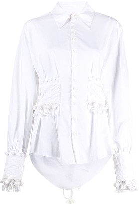 Charles Jeffrey Loverboy Corseted Button Down Shirt