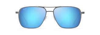 Maui Jim Beaches B541-27A | Polarized Dover Grey Aviator Frame Sunglasses with with Patented PolarizedPlus2 Lens Technology