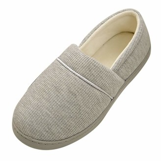 TEELONG Slippers for Women Home Shoe All-Inclusive Warm Pregnant Yoga Shoes Comfortable Slipper Size 4 5 6 7 UK Gray
