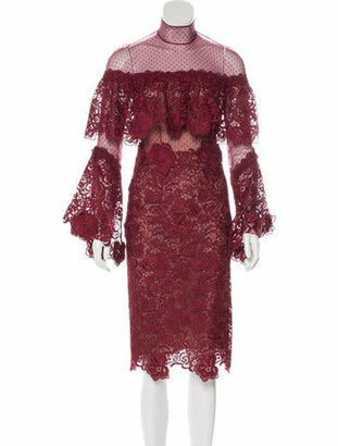 Costarellos Lace Midi Dress