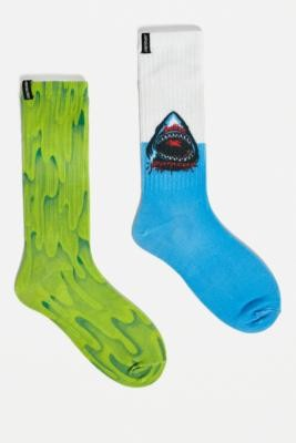Santa Cruz Speed Wheel Socks 2-Pack - Green ALL at Urban Outfitters