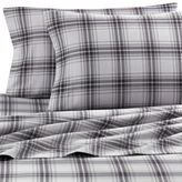 Seasons The Collection® King Flannel Pillowcases in Grey Plaid (Set of 2)