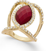 INC International Concepts Gold-Tone Large Stone and Pavé Statement Ring, Only at Macy's