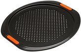 Le Creuset Toughened Non-Stick Bakeware Pizza Pan, Black, 38.7 x 36.7 x 1.2 cm