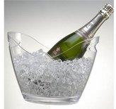 Acrylic Ice Bucket - 2 Bottle Clear by Prodyne
