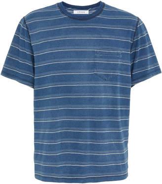 Frame Striped Cotton-Jersey T-Shirt