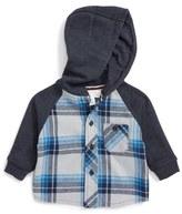 Pumpkin Patch Hooded Plaid Shirt (Baby Boys)
