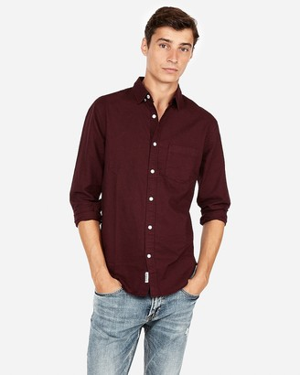 Express Slim Soft Wash Garment Dyed Oxford Shirt