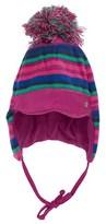 Sterntaler Multi Pink and Blue Striped Fleece Chapka Hat